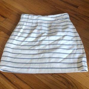 H&M striped mini pencil skirt sz 8